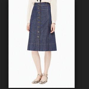 Kate Spade Broom Street denim midi skirt